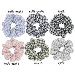 1 Plaid Check Hair Scrunchies for Women Hair Accessories Tar