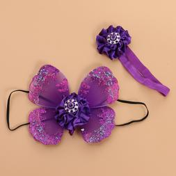 1 set Baby Photography Props Cute Sequin Butterfly Wings for