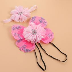 1 set Baby Photography Props Rhinestone Costume Headband for