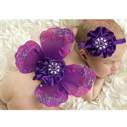 1 set Baby Photography Props Sequin Soft Butterfly Wings for