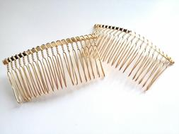 10 pcs Gold Plated Hair Comb Accessories Clips Combs Barrett