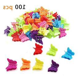 100 Pack Butterfly Hair Clips Beautiful Mini Hairs Accessori