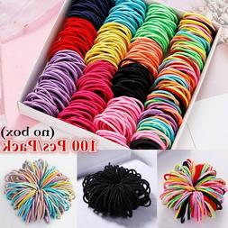 100Pcs Colorful Nylon Elastic Rope Band Round Rubber Sewing