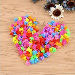 100PCS Mini Mixed Color Butterfly Hair Clips Claw Barrettes