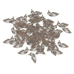 100x Butterfly Findings Jewelry Making Accessories Bride Jew