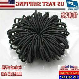 100x Sewing Elastic Band Rubber Stretch Rope Ribbon Hair Tie