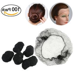 100X Unisex Men Women Hair Nets Invisible Elastic Edge Mesh