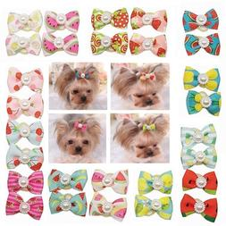 10pcs/20pcs Small Dog Cat <font><b>Hair</b></font> Bow Pet G