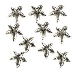 10pcs Antique Silver Leaf Embellishments Findings for Jewelr