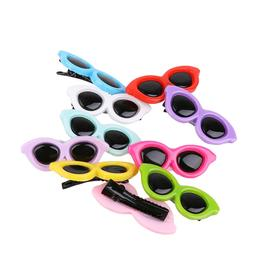 10pcs/set <font><b>Plastic</b></font> Pet Sunglasses Hairpin