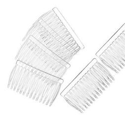 12 Clear Plastic Hair Combs Simple and Ready to Decorate! Br