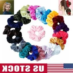 12 Pack Velvet Hair Scrunchies Hair Ties Elastic Hair Bands