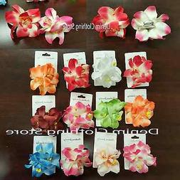 12pcs Orchid Flowers Hair Clips Pin Bridal Wedding Prom Hawa