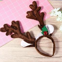 PIXNOR 1PC Antlers Headdress Plush Hair Accessory for Christ