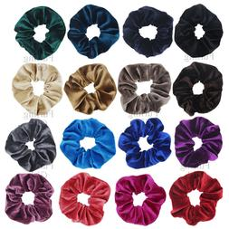 1X Velvet Scrunchies Ponytail Holder Hair Accessories Lot El