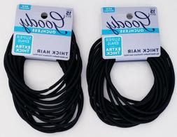 2 Pack GOODY OUCHLESS XL PONYTAIL HAIR ELASTICS - EXTRA THIC