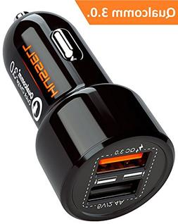 2018 HUSSELL Car Charger. Quick Charge 3.0 + 2.4A Smart IC D