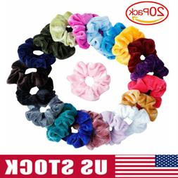 20Pack Women Girl Hair Scrunchies Velvet Elastic Hair Bands
