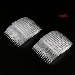 20Pcs Clear Hair Clips Side Combs Pin Barrettes Hair Comb DI