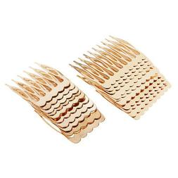 20pcs Golden Hair Comb Side Combs Jewelry Making Hair Access