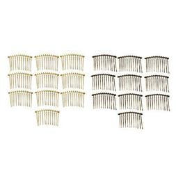 20x Blank Hair Clips Side Comb DIY Hair Accessories Jewelry