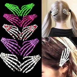 2PCS Accessories Halloween Hair Clips Claw Hairpin Hand Bone