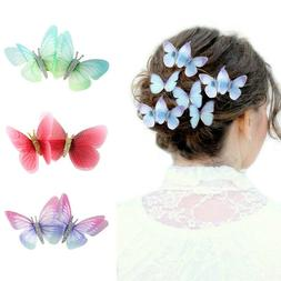 2PCS Butterfly Hairpin Ladies BB Hair Clips Pins Accessories