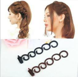 2Pcs Side Hair Styling French Braid Clip Magic Stick DIY Bun