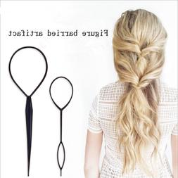 2PCS Topsy Tail Hair Braid Ponytail Maker Styling Tool Hair