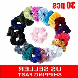 30Pack Women Girl Hair Scrunchies Velvet Elastic Hair Bands