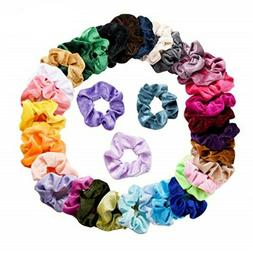 36 Pcs Velvet Elastic Hair Bands Scrunchy for Women or Girls