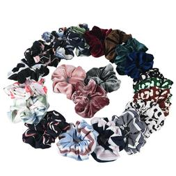 36Pack Women Girl Hair Scrunchies Velvet Elastic Hair Bands