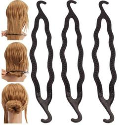3X Fashion Magic Hair Twist Styling Clip Stick Bun Maker Bra