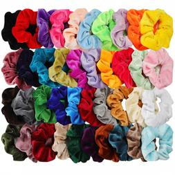 40 Pcs Hair Scrunchies Velvet Elastic Hair Band Scrunchy Wom
