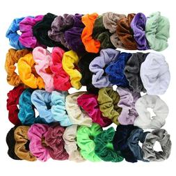 40Pcs Hair Scrunchies Velvet Elastic Hair Bands Scrunchy Hai