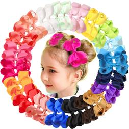 """40Pieces 4.5"""" Hair Bows Alligator Clips For Girls Toddlers K"""