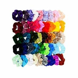 Chloven 45 Pcs Hair Scrunchies Velvet Elastics Bobbles Hair