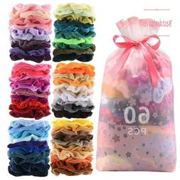 46 Pcs Hair Scrunchies Velvet Elastics Hair Ties Scrunchy Ba