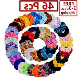40 Pcs Hair Scrunchies Velvet Elastics Hair Ties Scrunchy Ba