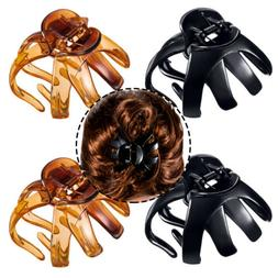 4x Classic Large Styling Octopus Hair Claw Clip Strong Holdi