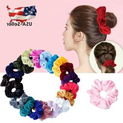 5-40 Pcs Women Girls Hair Ties Scrunchies Velvet Elastic Hai