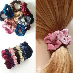 5 Pcs Velvet Elastic Hair Rope Tie Scrunchie Ponytail Holder