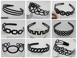 5 Plastic Wide Alice Hair Band Headband Hair Accessories Var