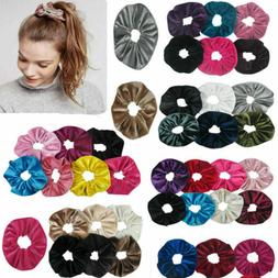 50Packs Women Hair Scrunchies Velvet Elastic Hair Bands Scru