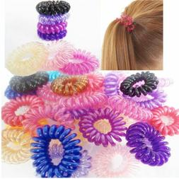 50pcs Spiral Slinky Hair Head Bands Elastics Bobbles Ties Sc