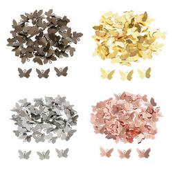 50x Butterfly Charm Women Hair Accessory DIY Crafts Jewelry