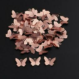 50x Butterfly Charms Women Hair Accessory DIY Crafts Jewelry