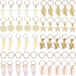 50x Gold Shell Snowflake Pendant Rings Hair Clip Accessories