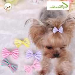 5Colors Stripe Pet Dog Grooming <font><b>Hair</b></font> Sma