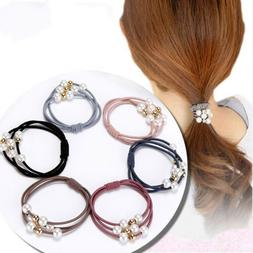 5Pcs Women Girls Kids Hair Band Ties Rope Ring Elastic Hairb
